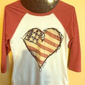 Baseball style t-shirt